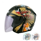 M2R柯基安全帽J-5#6(3/4耳罩式/內墨鏡/防護頭盔/彩繪帽/開放式機車帽)