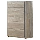 【森可家居】約翰厚切木紋五斗櫃 7JF018-2 衣物收納櫃 木紋質感 無印北歐風
