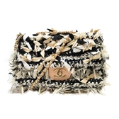 CHANEL 香奈兒 粉膚色牛皮緞帶造型 Ribbon Chain Shoulder Bag【BRAND OFF】