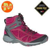 丹大戶外【MERRELL】美國 女款 SIREN SPORT Q2 MID GORE-TEX® 登山健行多功能鞋 ML37780 莓紅/灰
