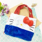 【KP】Hello Kitty 大臉掩面手提袋 絨毛 立體 吸鐵 提袋 餐袋 包包 正版日本進口授權 490161010