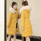 棉衣女2019新款羽絨棉服中長款韓版修身冬季棉襖加厚大碼保暖外套