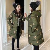 新款棉服加厚韓版學生棉襖可愛外套裝軟妹棉衣女中長款『櫻花小屋』