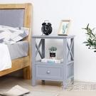 簡約現代整裝灰色床頭櫃經濟型臥室床邊櫃窄儲物櫃白色創意小櫃子WD 小時光生活館