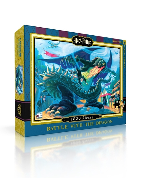 【KANGA GAMES】拼圖 哈利波特 - 勇者鬥龍 Harry Potter - Battle With The Dragon 1000片