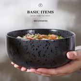 創意復古日式料理陶瓷器餐具拉面碗大號湯碗家用大碗拉面碗沙拉碗    韓小姐