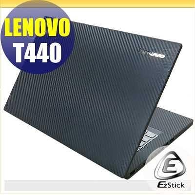 【EZstick】Lenovo ThinkPad T440 系列專用 Carbon黑色立體紋機身貼 (含上蓋及鍵盤週圍) DIY包膜