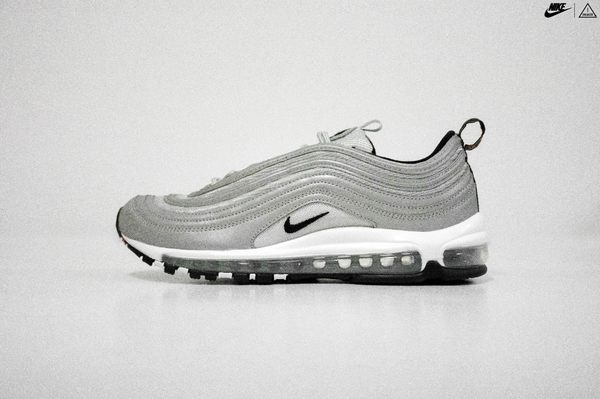 ISNEAKERS NIKE AIR MAX 97 PRM 銀彈 黑色 銀色 黑勾 3M 反光 312834-007