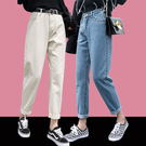 直筒牛仔褲女新品新款寬鬆顯瘦九分蘿卜褲子夏天薄款泫雅風老爹褲 鉅惠85折