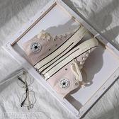 帆布鞋 鮀品粉色帆布鞋女秋季新款韓版ulzzang原宿1970s高筒學生鞋子 維科特3C
