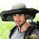 防曬帽子-防蚊防蜂網帳帽抗UV紫外線折疊收納超大頭圍尺寸遮陽親子帽J7567B JUNIPER朱尼博