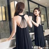雪紡洋裝 莫代爾性感露背洋裝2020新款女夏季吊帶薄款春韓版中孕婦長裙子