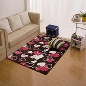 珊瑚絨現代簡約客廳茶幾臥室地毯床邊飄窗長方形地毯地墊滿鋪【韓衣舍】