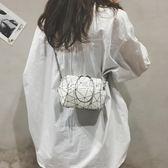 超火小包包女潮韓版不規則貝殼包百搭鍊條單肩斜背包  瑪奇哈朵