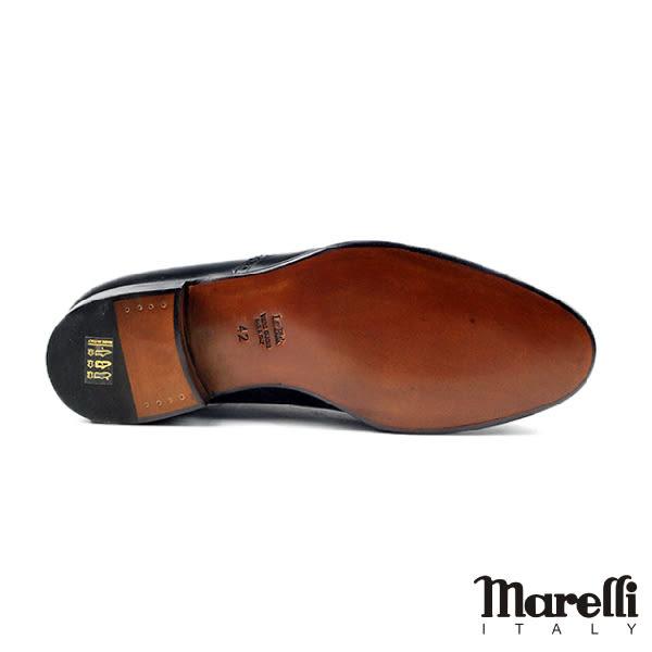 【Marelli】都會翼紋手工德比鞋 黑色(M774-BL)