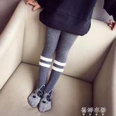 長襪 兒童連褲襪 女童打底褲棉質長襪可愛小狗印花健美踩腳舞蹈襪 蓓娜衣都