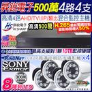 【昇銳】1080P 4路4支 監控主機套...