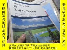 二手書博民逛書店water,air罕見,soil pollution volum