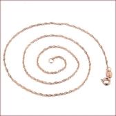 飾品 氣質女 鍍玫瑰金水波鍊 鍍項鍊飾品《小師妹》ps8