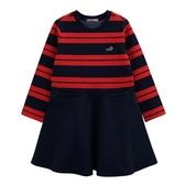 『小鱷魚童裝』條紋拼接洋裝(02號~08號)534393