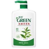 綠的抗菌沐浴乳-綠茶1000ml【愛買】