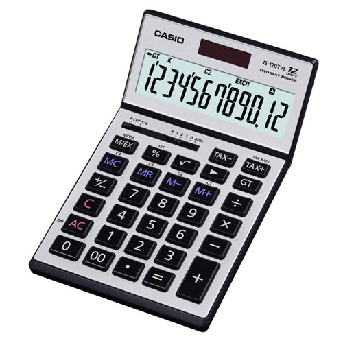 【破盤價】CASIO 卡西歐 JS-120TVS-SR 商用12位元計算機 / 台