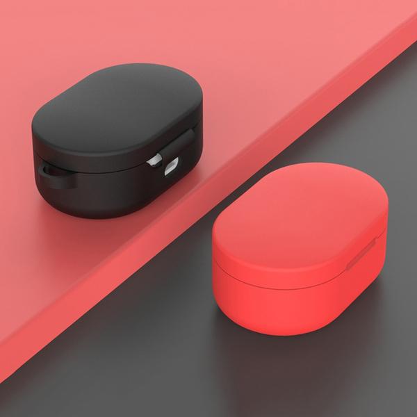 【妃航】二合一/含掛勾 小米/紅米 Airdots 繽紛/糖果色 矽膠 防塵/防摔 TPU 保護套/耳機盒套