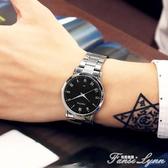時尚手錶女中學生韓版簡約夜光休閒大氣石英男錶情侶手錶2020新款 聖誕節全館免運