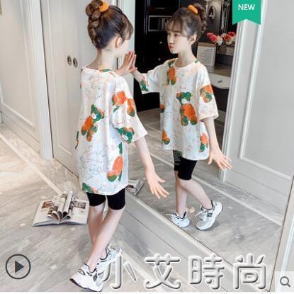 女童短袖體T恤2021夏季新款女孩洋氣童裝純棉半袖兒童夏裝上衣潮 小艾新品