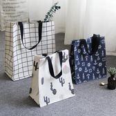 ins帶飯包雜志包牛津佈防水補習包袋手提袋小學生書袋便當包    多莉絲旗艦店