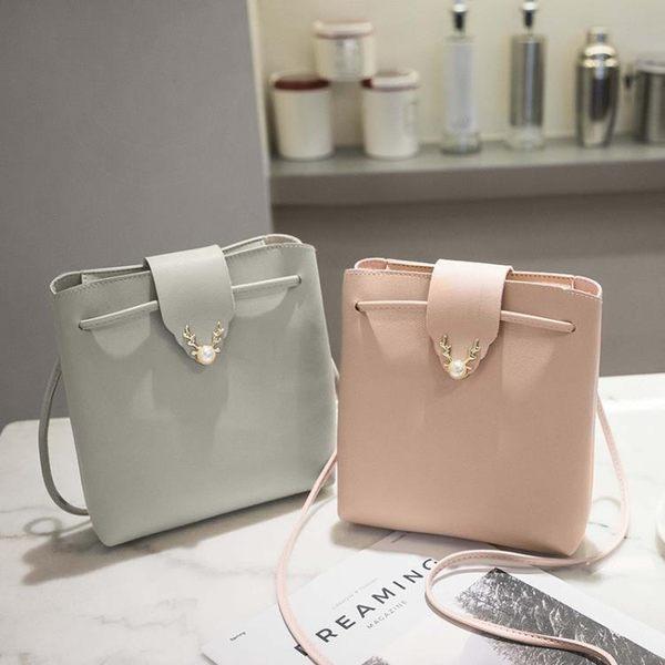 女包包2019夏季上新款單肩斜挎韓版時尚潮流簡約百搭包包水桶包 森活雜貨