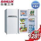 SANLUX台灣三洋 128公升雙門定頻冰箱 SR-B128B3