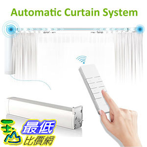 [107美國直購] 自動幕簾系統 Automatic Curtain system Accept Customized Track Size Electric Remote Controlled Drapery