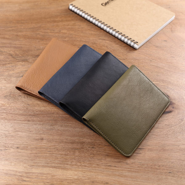 【Solomon 原創設計皮件】極簡皮革護照套 護照夾 卡夾證件皮套  無切角款式