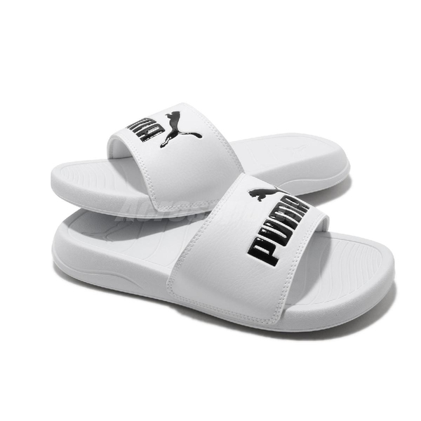 Puma 涼拖鞋 Popcat 20 白 黑 男鞋 女鞋 基本款 涼鞋 【ACS】 37227902