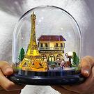 【Alice Shop】DIY小屋 情人節送禮 一起環遊世界透明罩 手工diy音樂盒小屋 袖珍屋 拼裝房子【現貨】