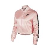 Nike 外套 Air Satin Track Jacket 粉紅 白 女款 立領外套 運動休閒 【ACS】 BV4780-682