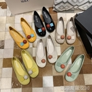 單鞋豆豆鞋新款女懶人鞋網紅鞋子女超火單鞋秋鞋奶奶鞋女平底 凱斯盾