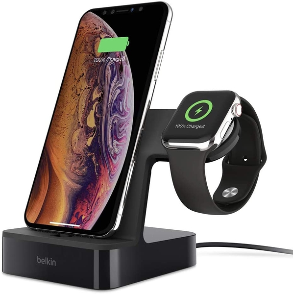 [9美國直購] 充電座 Belkin F8J237ttBLK iPhone Charging Dock + Apple Watch Charging Stand