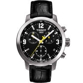 TISSOT 天梭 PRC200 競速三眼計時手錶-黑 T0554171605700