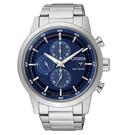 CITIZEN Eco-Drive 亞洲限定版 經典都會 光動能時尚腕錶-藍/ 43mm CA0610-52L