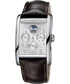 ORIS 豪利時 Rectangular 經典月相機械手錶-銀x咖啡 0158276944061-0752420FC