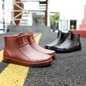 雨鞋雨鞋冬天加厚保暖時尚秋冬男雨靴鞋耐磨廚房膠鞋男防滑防水 聖誕節