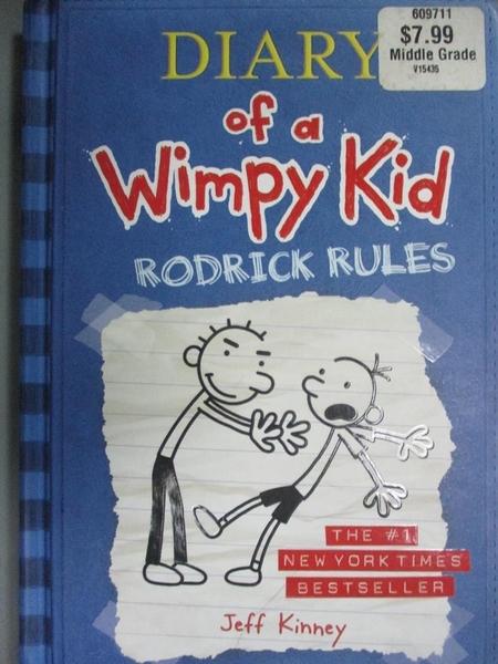 【書寶二手書T1/原文小說_LCM】Diary of a Wimpy Kid: Rodrick Rules_Kinney, Jeff