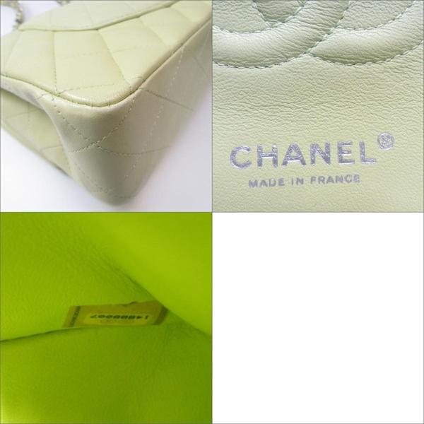 CHANEL 香奈兒 青綠色羊皮銀鍊雙蓋手提肩背包 COCO 25CM A01112 【BRAND OFF】