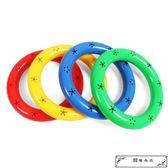 感統玩具 幼兒園晨操器械體操圈塑料有聲體操環塑料舞蹈手環兒童啞鈴手搖鈴