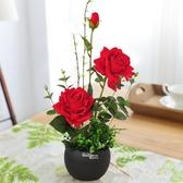 仿真花擺件套裝假花插花家居室內客廳餐桌裝飾花卉擺設 QW5865『夢幻家居』