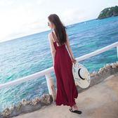 女夏2018新款仙海邊度假巴厘島顯瘦連身裙