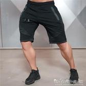 運動短褲肌肉兄弟健身運動短褲男士夏季深蹲棉質5五分褲修身休閒訓練運動 晴天時尚館