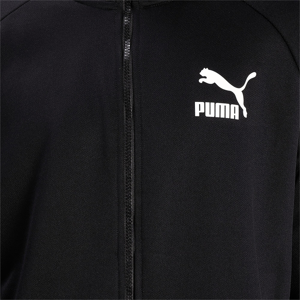PUMA T7 男裝 外套 休閒 歐規 立領 LOGO 黑【運動世界】53009401